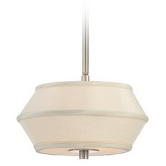 Two-Light Mini-Pendant with Fabric Shade