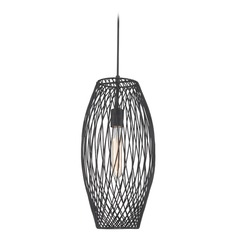 Lite Source Lighting Walworth Black Mini-Pendant with Oblong Shade