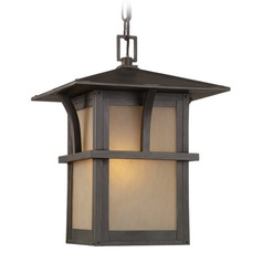 Sea Gull Lighting Medford Lakes Statuary Bronze LED Outdoor Hanging Light