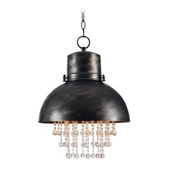 Nicole Faux Corroded Metal Pendant Light with Bowl / Dome Shade by Kenroy Home