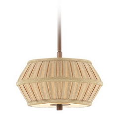 Two-Light Mini-Pendant with Pleated Shade