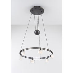 Holtkoetter Modern Low Voltage Drum Pendant Light with White Glass in Hand-Brushed Old Bronze Finish