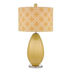 Table Lamp with Yellow Shades in Sunshine Yellow Finish