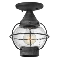 Hinkley Lighting Cape Cod Aged Zinc Close To Ceiling Light