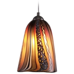 Oggetti Amore Art Glass Mini-Pendant Light with Dome Canopy