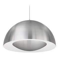 Modern Brushed Nickel LED Pendant 3000K 2000LM