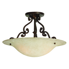 Craftmade Toscana Aged Bronze Semi-Flushmount Light