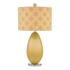 Sunshine Yellow LED Table Lamp with Yellow Shade