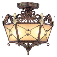 Livex Lighting Bristol Manor Palacial Bronze with Gilded Accents Semi-Flushmount Light