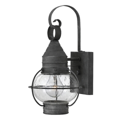 Seeded Glass Outdoor Wall Light Zinc Hinkley Lighting