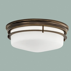 Norwell Lighting Galley Burnished Bronze Flushmount Light