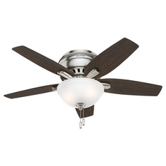 42-Inch Hunter Fan Newsome Ceiling Fan with Light - Brushed Nickel Finish