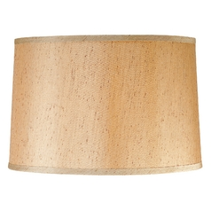 Design Classics Lighting Caramel Silk Drum Lamp Shade with Spider Assembly DCL SH7304 PCB