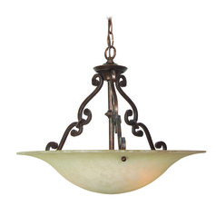 Craftmade Toscana Aged Bronze Pendant Light with Bowl / Dome Shade