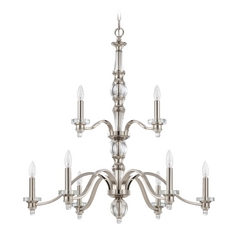 Jeremiah Lighting Laurent Polished Nickel Chandelier