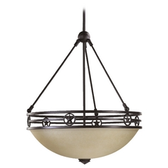 Quorum Lighting Lone Star Toasted Sienna Pendant Light