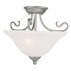 Livex Lighting Coronado Brushed Nickel Semi-Flushmount Light