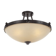 Savoy House Lighting Elba Oiled Copper Semi-Flushmount Light