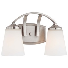 Overland Park Brushed Nickel Bathroom Light