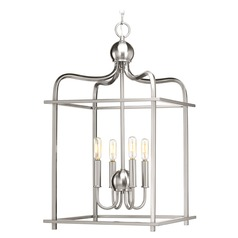 Assembly Hall Brushed Nickel Pendant Light by Progress Lighting