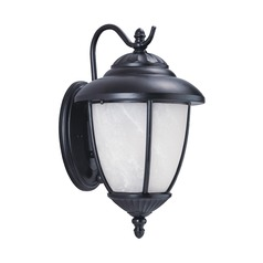 Sea Gull Lighting Yorktown Black Outdoor Wall Light