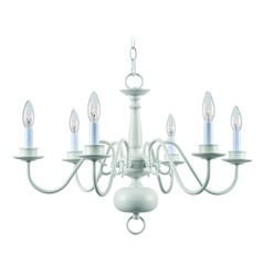 Williams White Chandelier by Kenroy Home