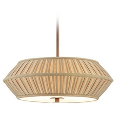 18-Inch Wide Three-Light Pendant with Pleated Shade