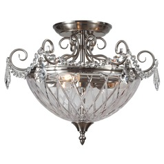 Crystorama Lighting Ceiling Mount Polished Chrome Semi-Flushmount Light