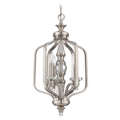 Jeremiah Lighting Laurent Polished Nickel Pendant Light