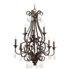 Quorum Lighting Anders Oiled Bronze Crystal Chandelier