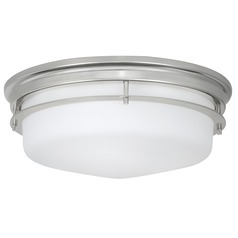 Norwell Lighting Galley Polished Nickel Flushmount Light