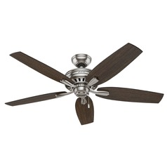 Hunter Fan Company Newsome Brushed Nickel Ceiling Fan Without Light
