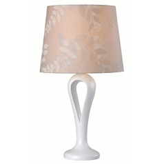 Kenroy Home Parfume White Table Lamp with Empire Shade