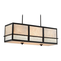 Lite Source Hyden Dark Bronze Island Light with Rectangle Shade