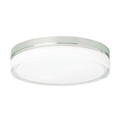 Tech Lighting Modern Low Profile Flushmount Light with Clear Glass