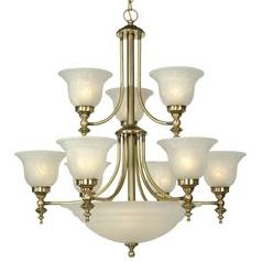 Dolan Designs 2-Tier 12-Light Chandelier in Old Brass