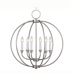 Livex Lighting Milania Brushed Nickel Pendant Light