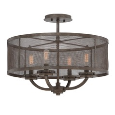 Savoy House Galaxy Bronze Semi-Flushmount Light