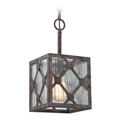 Elk Lighting Radley Malted Rust Mini-Pendant Light with Square Shade
