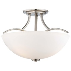 Overland Park Brushed Nickel Semi-Flushmount Light