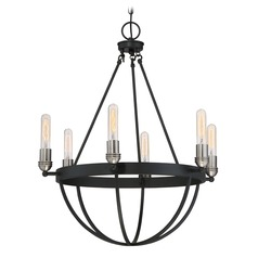 Quoizel Lighting Basin Earth Black Chandelier