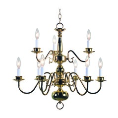 Williams Polished Brass Chandelier by Kenroy Home