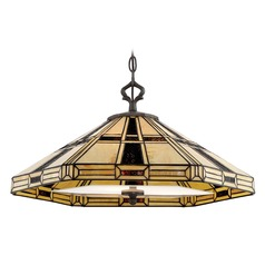 Lite Source Mircea Dark Bronze Pendant Light with Hexagon Shade