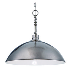 Jeremiah Timarron Antique Nickel Pendant Light with Bowl / Dome Shade