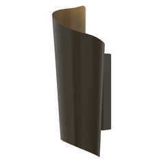 Modern LED Outdoor Wall Light in Bronze Finish
