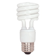 Compact Fluorescent T2 Light Bulb Medium Base 4100K