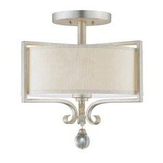 Savoy House Silver Sparkle Semi-Flushmount Light