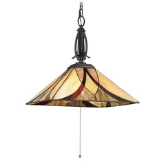 Quoizel Lighting Asheville Valiant Bronze Pendant Light with Square Shade