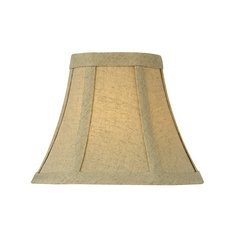 Burlap Bell Lamp Shade with Clip-On Assembly