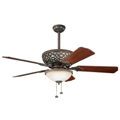 Kichler 52-Inch Ceiling Fan with Integrated Uplight